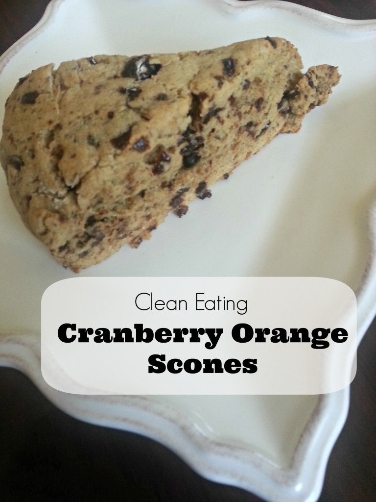 Clean Eating Cranberry Orange Scones