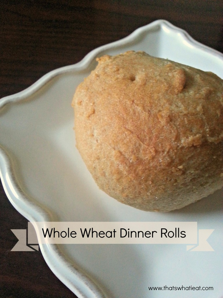 Whole Wheat Dinner Rolls www.thatswhatieat.com