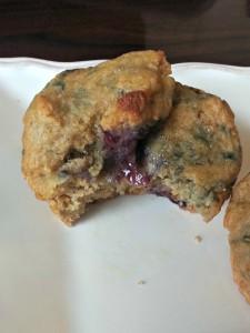 Blueberry lemon muffins 3