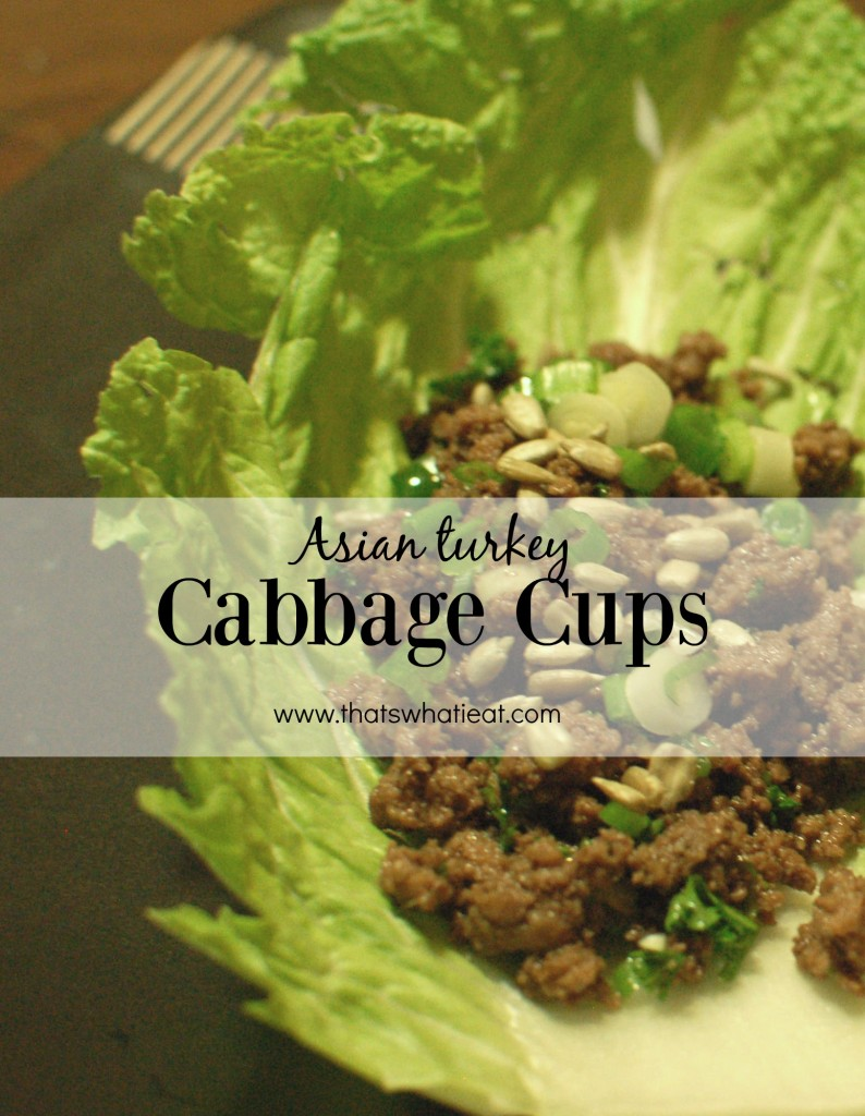 Asian turkey cabbage cups